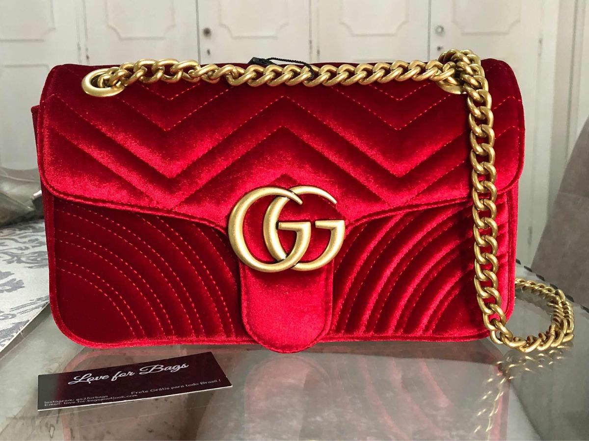 a1fb1878c Bolsa Feminina Gucci - Importada Marca Luxo - R$ 790,00 em Mercado Livre
