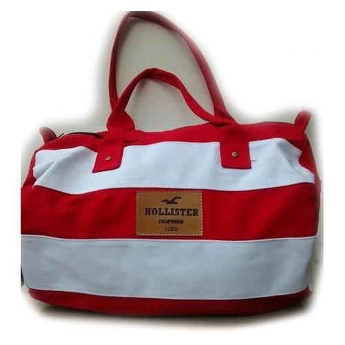 9a6a6a301 Bolsa Feminina Mala Hollister Ziper Cores Original Importada - R$ 70 ...