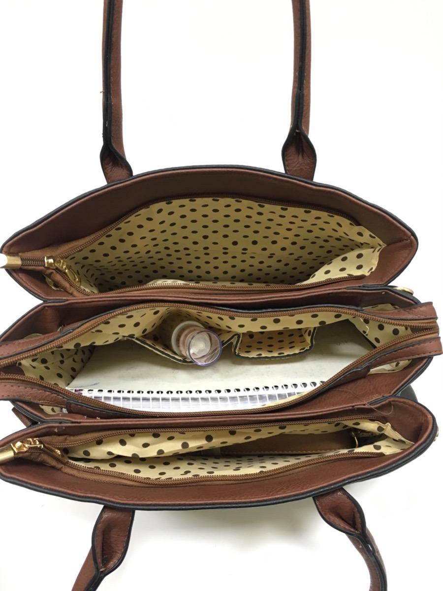 850e8c64a bolsa feminina importada 3 divisorias alca transversal ombro. Carregando  zoom.