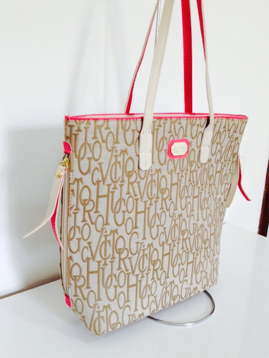 Bolsa Feminina Osklen : Bolsa feminina importada vitor hugo bege rosa r