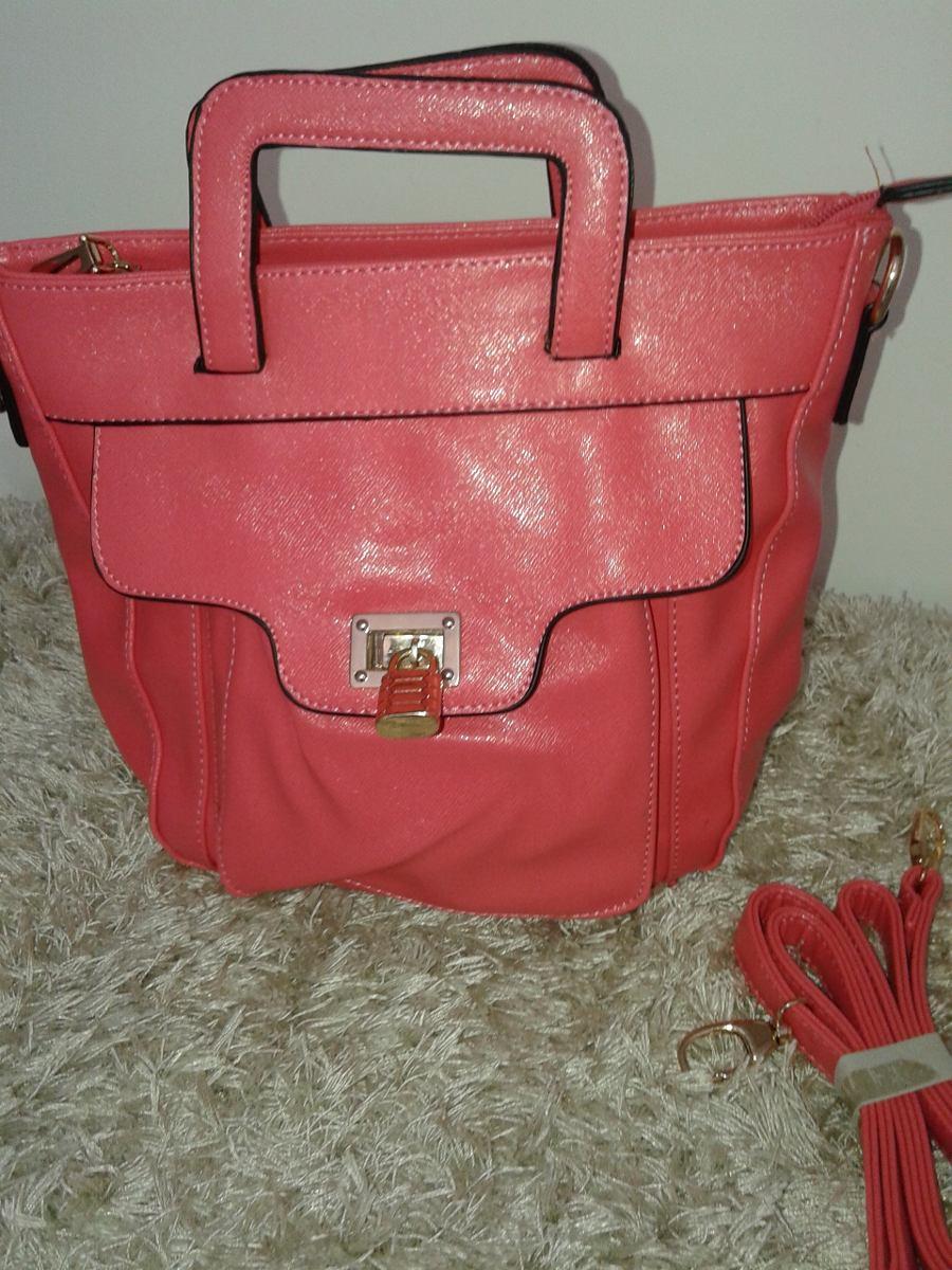 bolsa feminina importado couro sintético transversal rosa. Carregando zoom. 0593b36c04c