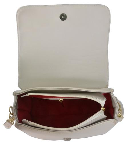 bolsa feminina kit com 2 bolsas grande pequena bau +carteira