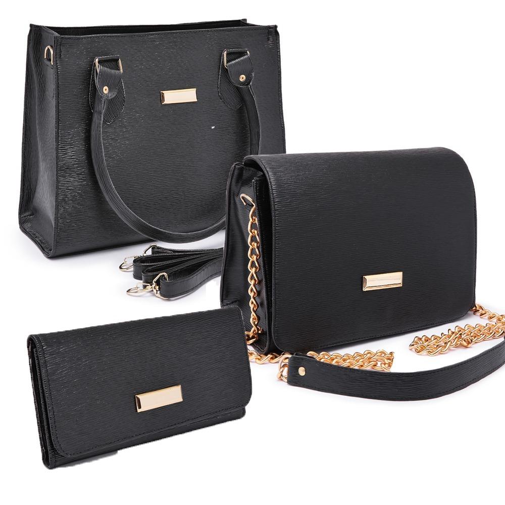 972421c41 bolsa feminina kit com 3 bolsas grande pequena bau carteira. Carregando zoom .