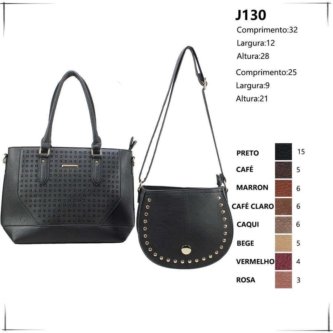 be3b60ce11 bolsa feminina kit conjunto 2 peças varias cores lindas luxo. Carregando  zoom.