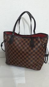 f735e5716 Bolsa Louis Vuitton Neverfull Mm Damier Ebene - Calçados, Roupas e ...