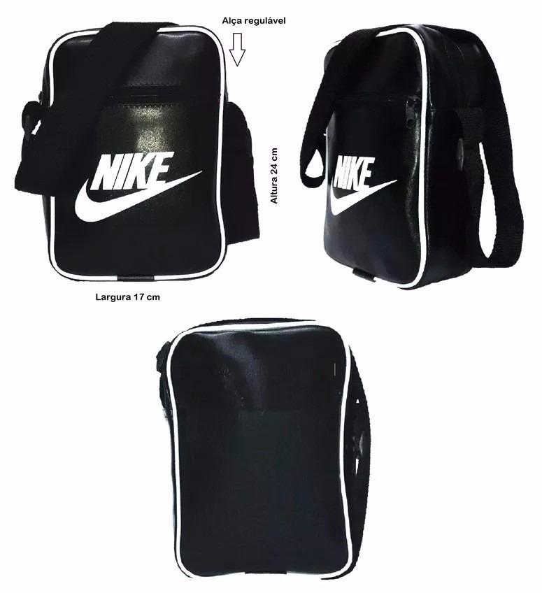 Bolsa Feminina De Couro Nike : Bolsa feminina masculina modelo nike estilo carteiro