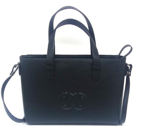 bolsa feminina média com alça dumond tote preta