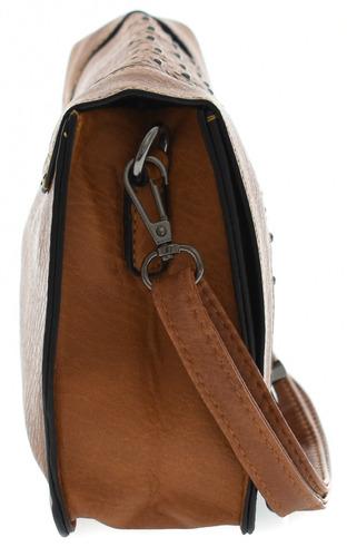 bolsa feminina média com carteira couro pu transversal linda