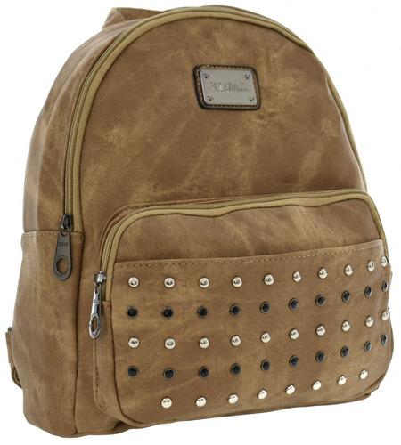 bolsa feminina média mochila couro pu alta qualidade nova