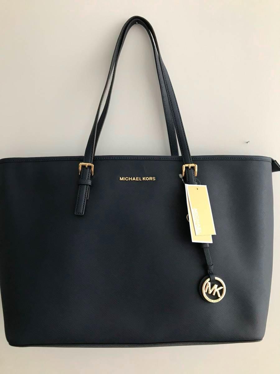 d8d9a857e bolsa feminina michael kors azul grande original importada. Carregando zoom.