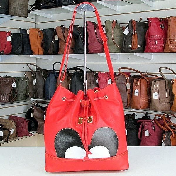 3256ed6c9 Bolsa Feminina Mickey Transversal Vermelha Saco Tira Colo - R$ 39,00 ...