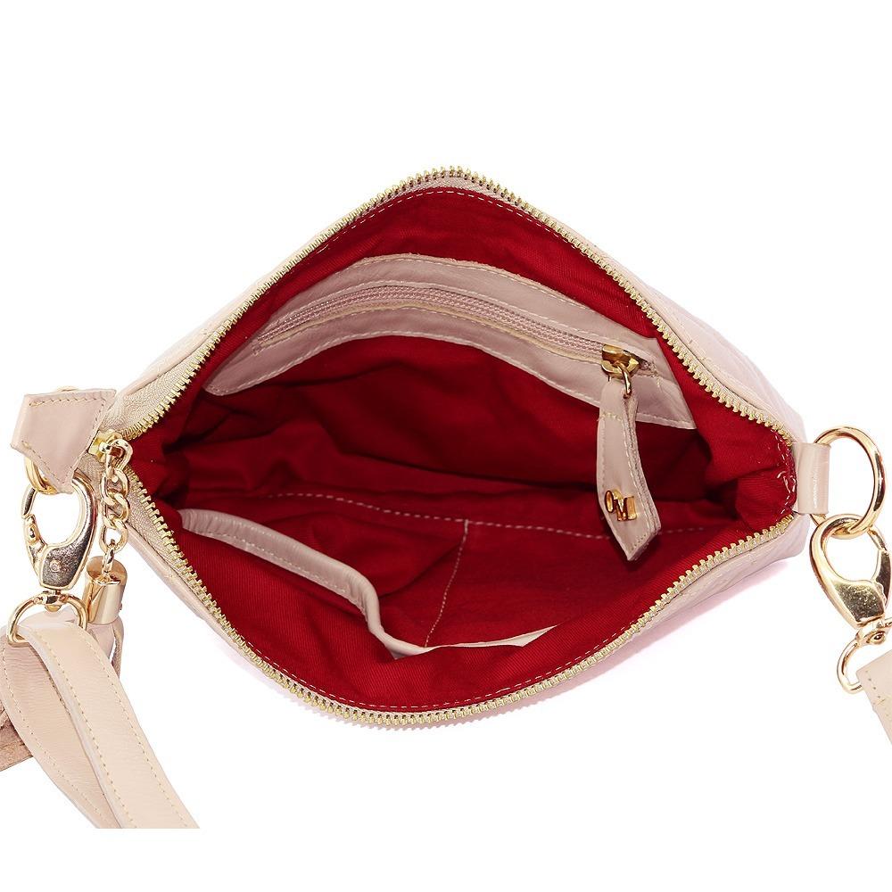 31ebbf2f47 bolsa feminina nude transversal luxuosa em couro legítimo. Carregando zoom.