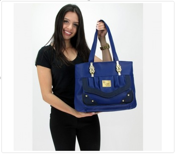 Bolsa De Ombro De Lona Feminina : Bolsa feminina ombro azul royal r em mercado livre
