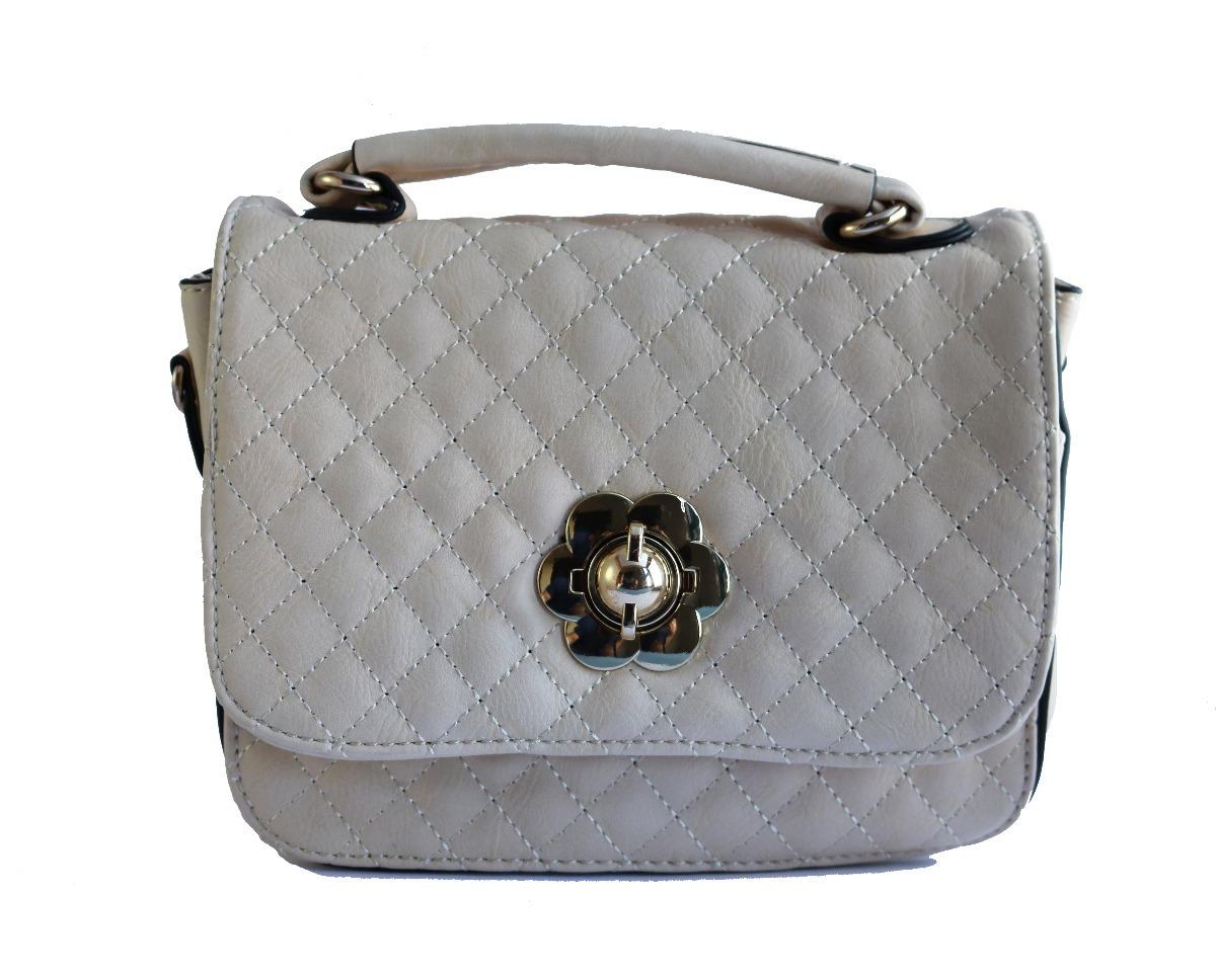 73154afa4 Bolsa Feminina Pequena Off-white C/ Dourado - R$ 35,00 em Mercado Livre