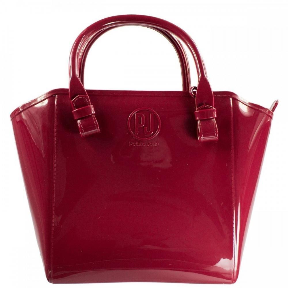 ecff69f3c bolsa feminina petite jolie shopper pvc pj1770 - bordô. Carregando zoom.