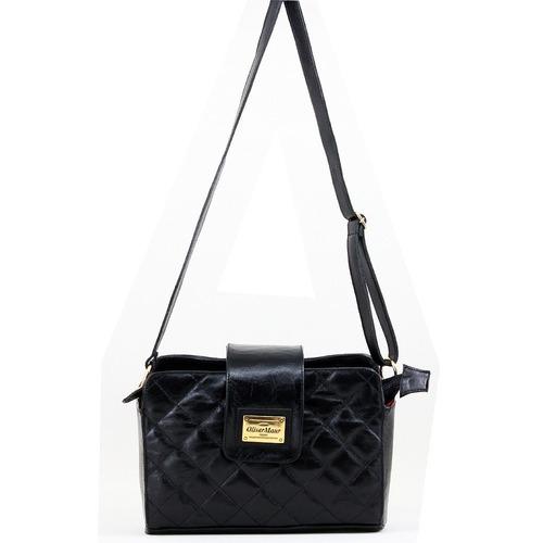 58fc0e3f07 bolsa feminina preta transversal luxuosa em couro legítimo. Carregando zoom.