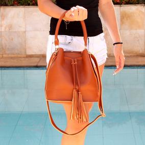 906f4e729 Bolsa Bucket Bag Saco - Bolsas de Couro Sintético Marrom em Minas ...