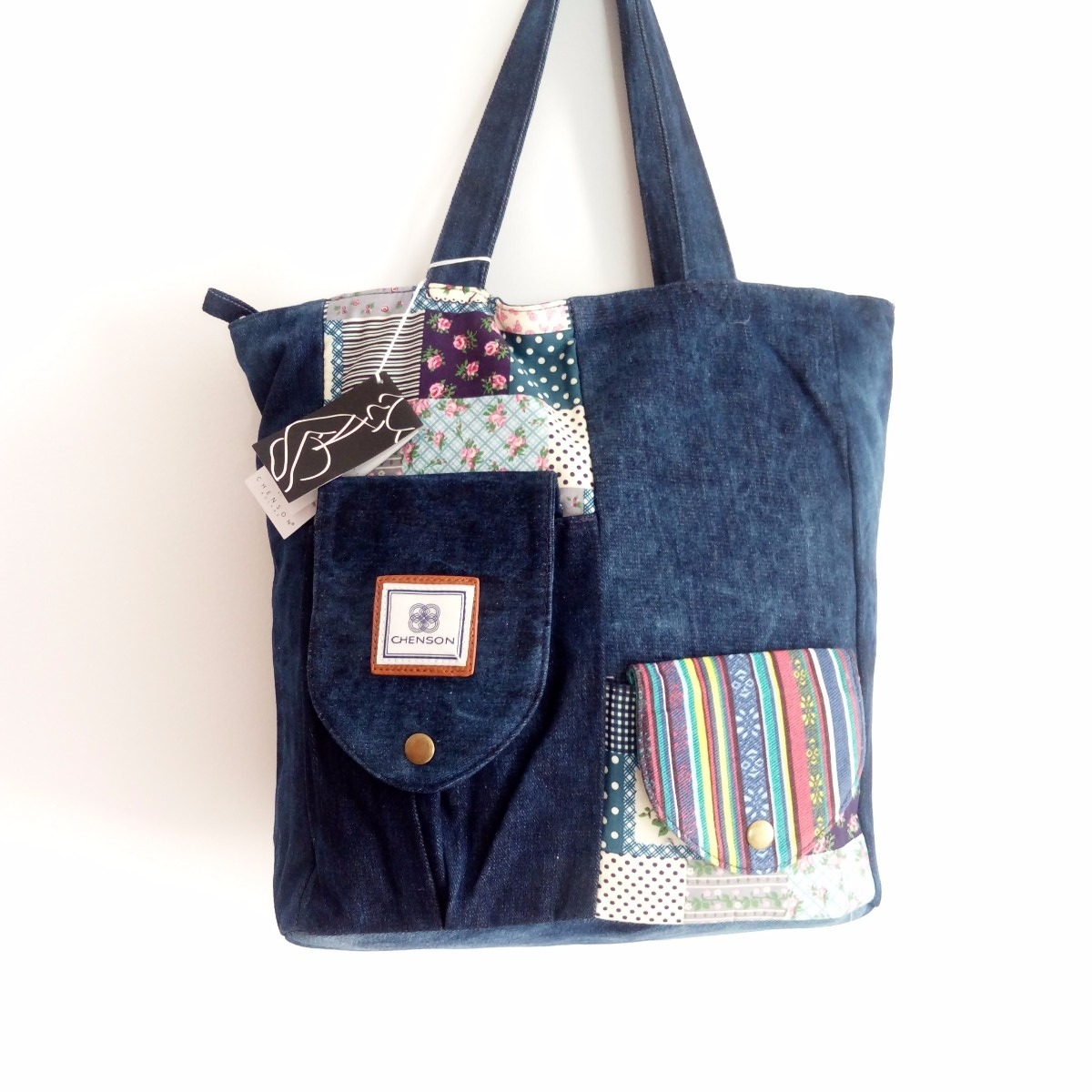 fbeeaec79 Bolsa Feminina Sacola Jeans Importada Cg69628 - R$ 330,00 em Mercado ...
