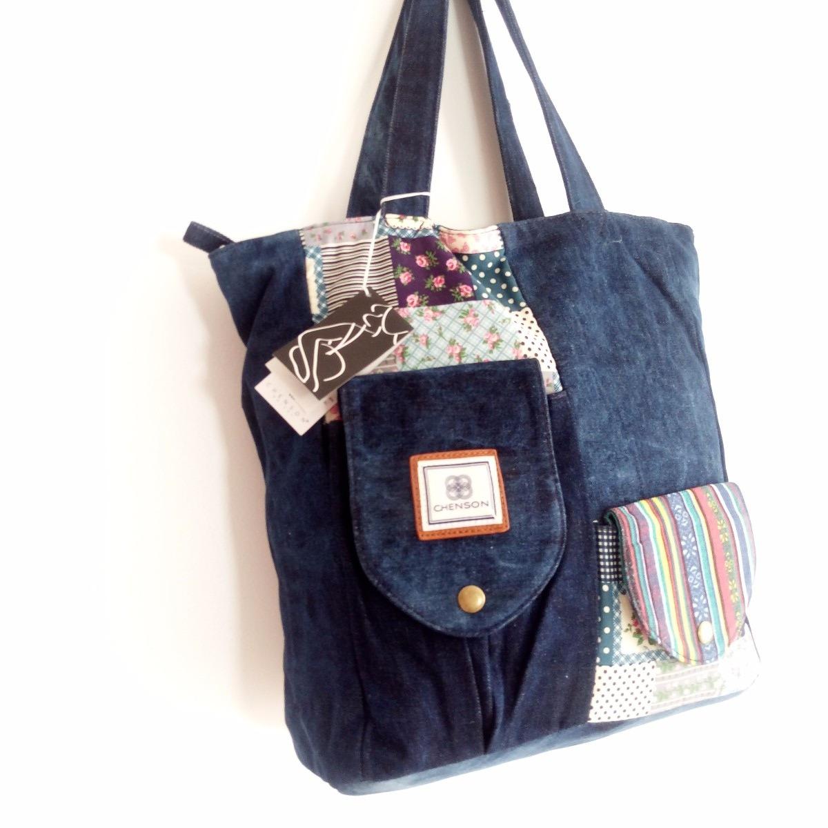 d6b662931 bolsa feminina sacola tecido jeans faculdade importada. Carregando zoom.