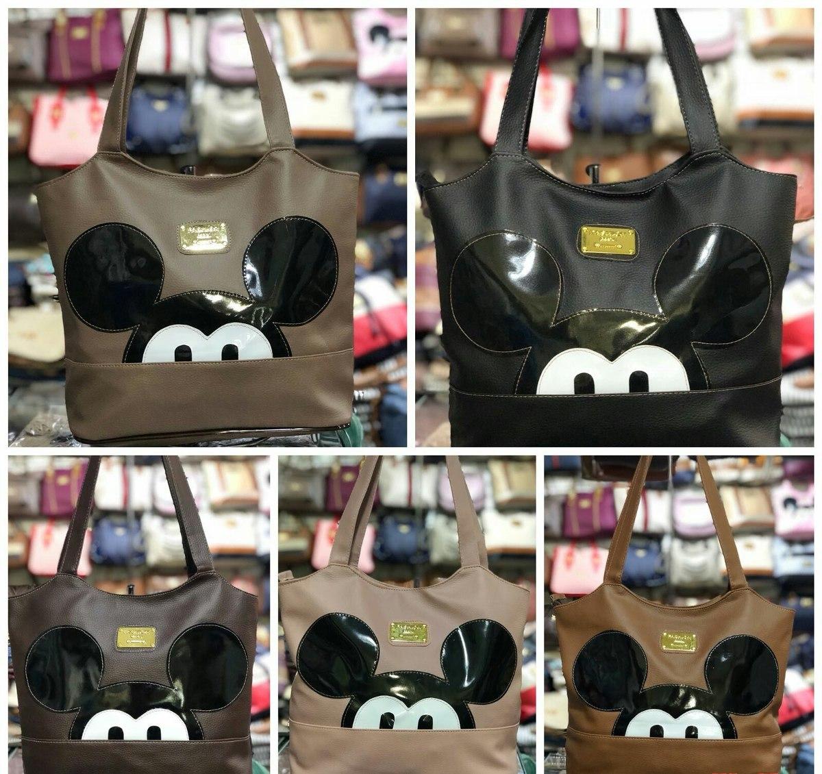 a7285c385 Bolsa Feminina Saquinho Com Desenho Do Mickey - R$ 29,99 em Mercado ...