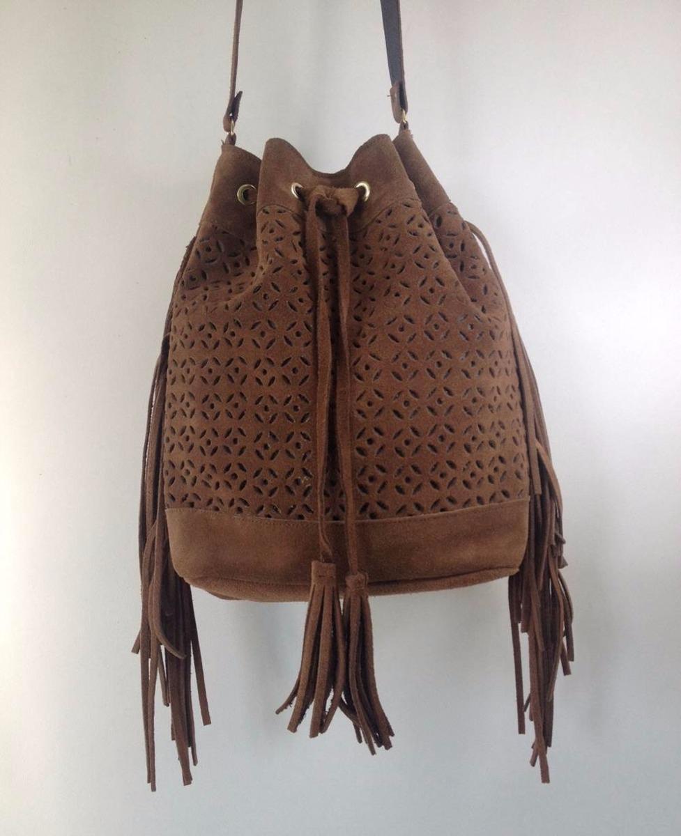 6018a0d48 Bolsa Feminina Tipo Saco De Franja Caramelo - R$ 99,90 em Mercado Livre