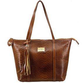 38353f9ba Bolsa Tipo Sacola Dourada - Bolsas de Couro Laranja escuro no ...