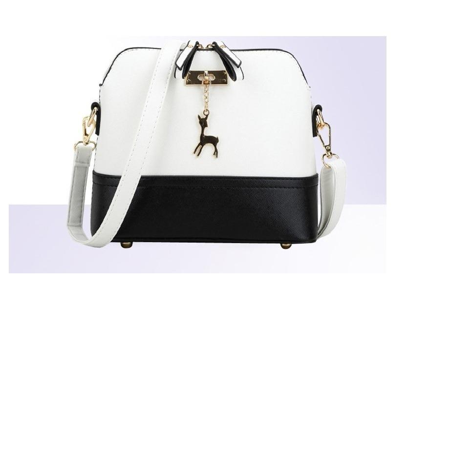 cbaadcba4 Bolsa Feminina Tiracolo ( Branca/preta ) - R$ 58,00 em Mercado Livre
