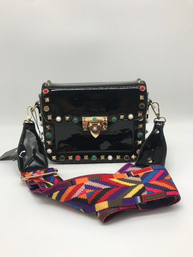 bolsa feminina tiracolo invernizada taxinha colorida