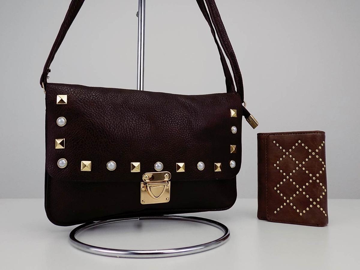 805868d03 Bolsa Feminina Tiracolo Linda Atacado + Carteira Bonita Nova - R$ 39 ...