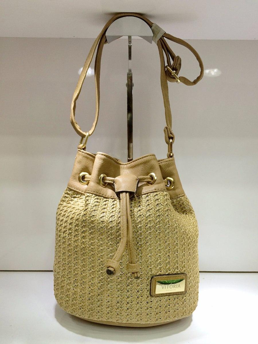 Bolsa De Couro Tipo Saco : Bolsa feminina tiracolo palha com couro sint?tico tipo