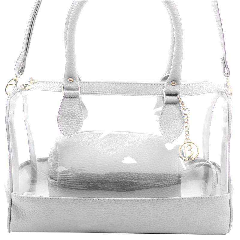 6faa362c6 Bolsa Feminina Transparente Baú Cristal Moda Biro - R$ 169,98 em ...