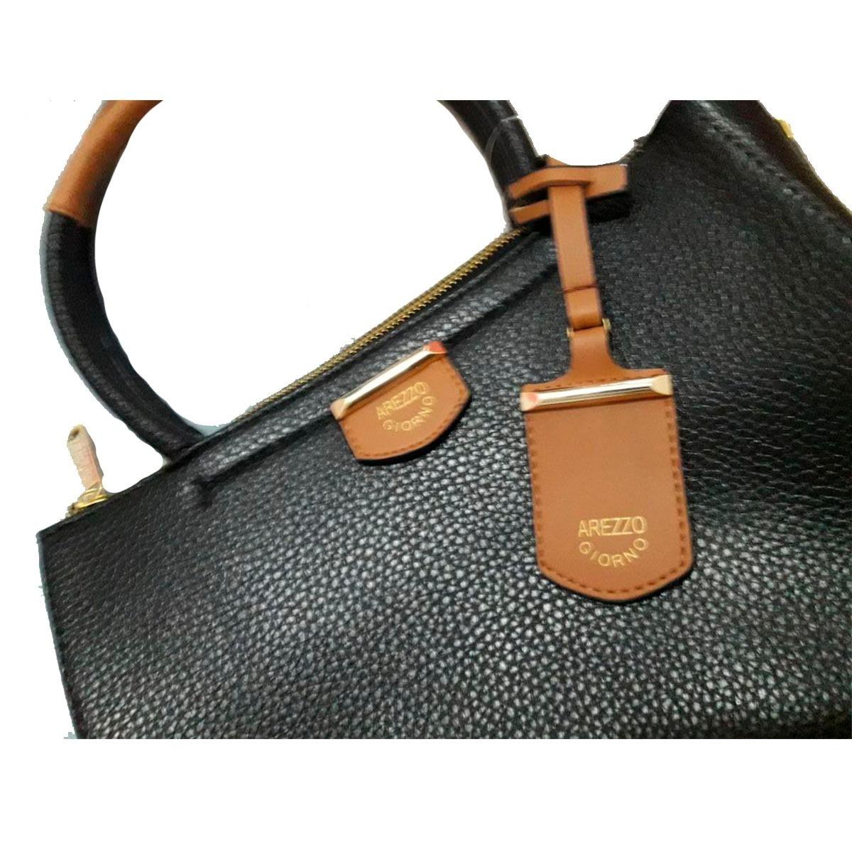3f861365e bolsa feminina transversal arezzo giorno couro ecológico. Carregando zoom.