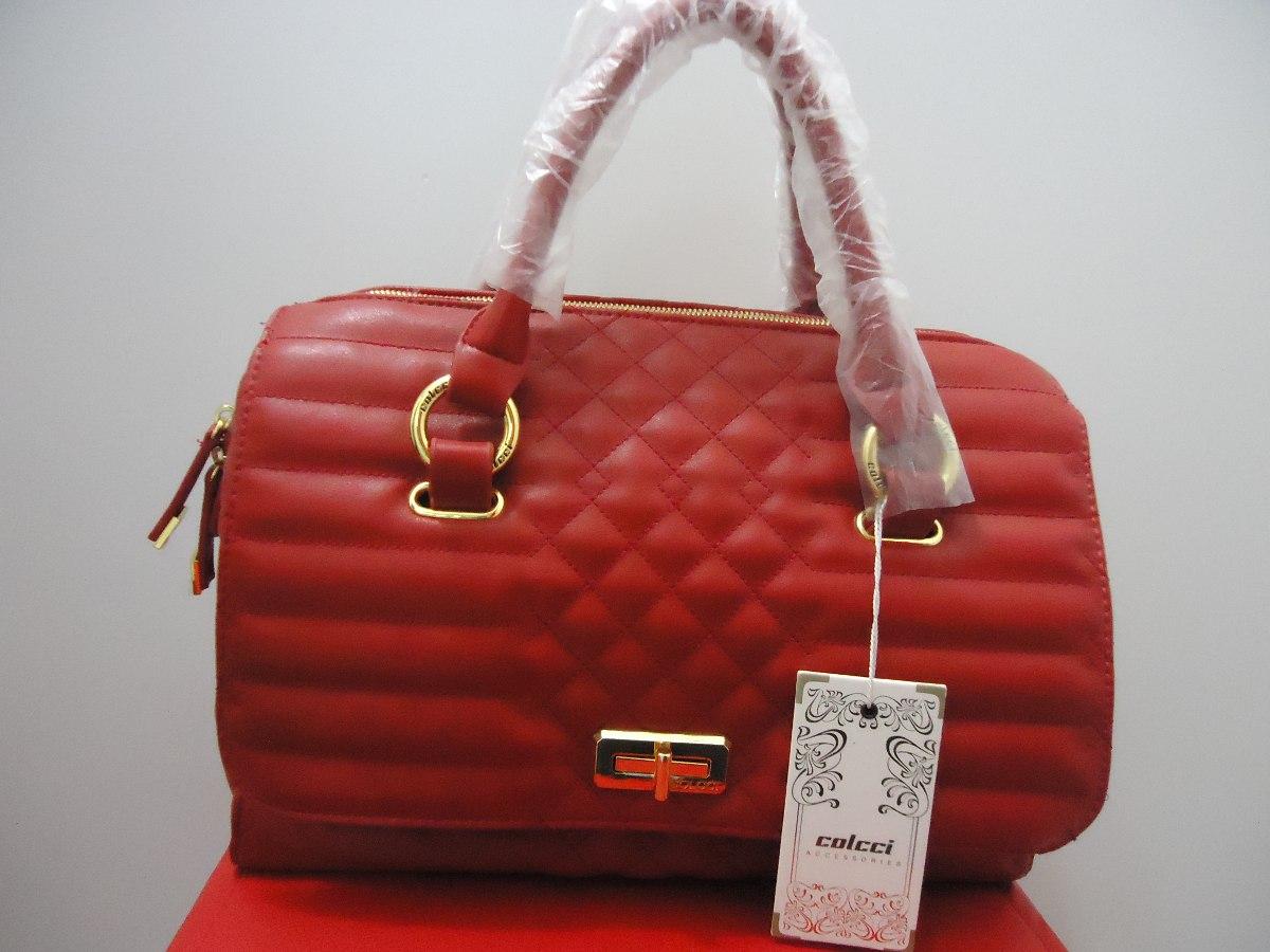 203bfb691 Bolsa Feminina Vermelha Colcci Original - R$ 399,90 em Mercado Livre