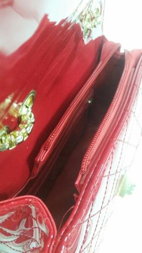 bolsa feminina verniz alça