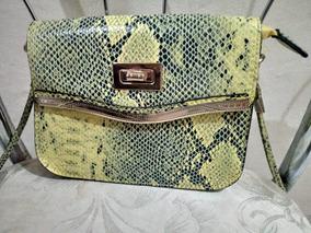 fbcfd4d30 Bolsa Feminina Estruturada Estampada - Bolsas de Couro Amarelo no ...