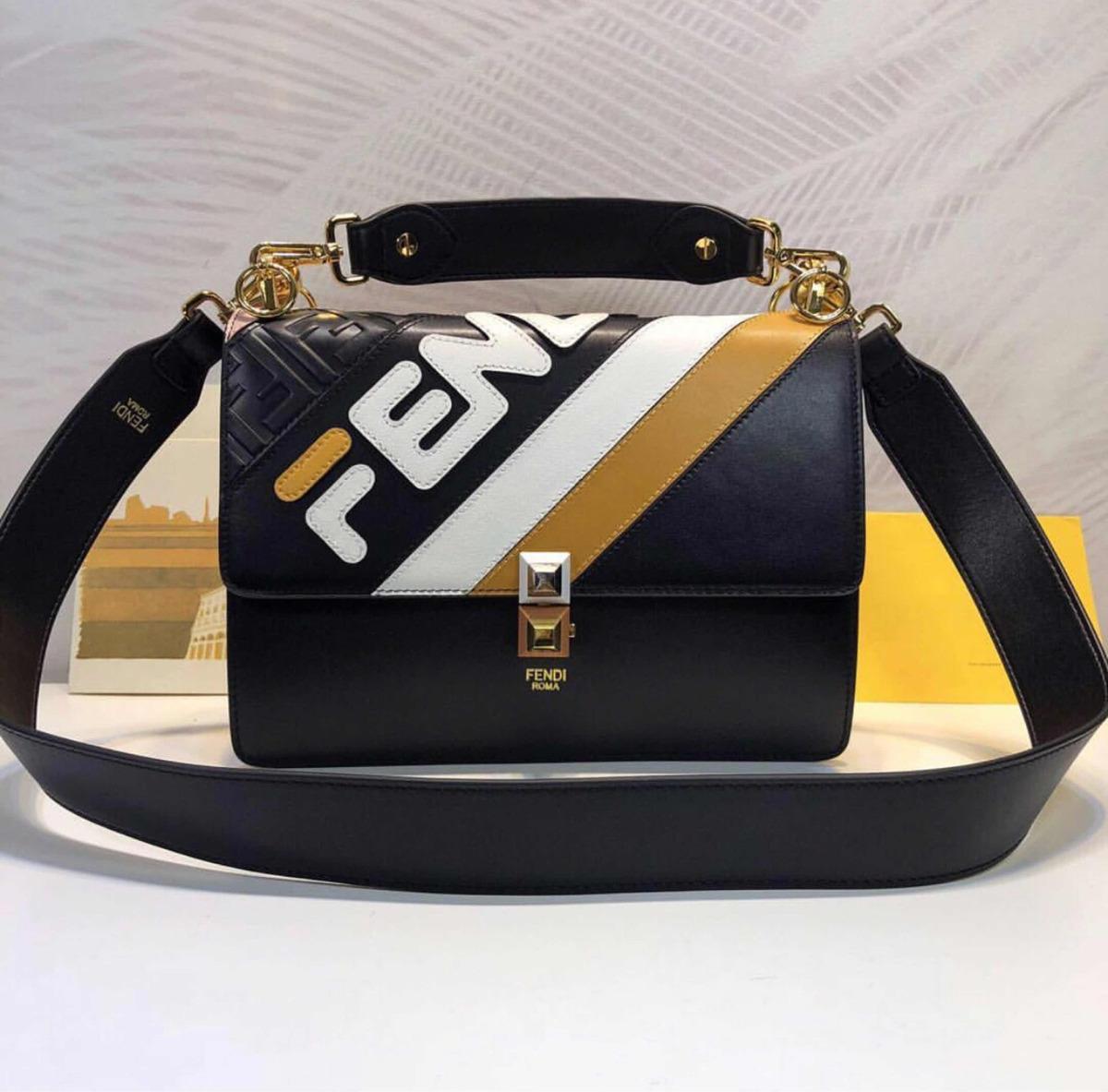 fa63bc134 Bolsa Fendi X Fila Kan - Importada (couro Original) - R$ 2.445,00 em ...
