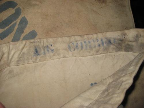 bolsa ferrocarril - correo 60 x 40 cm sellada en tela