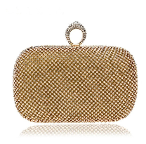 bolsa festa luxo clutch strass cristal prata ou dourada