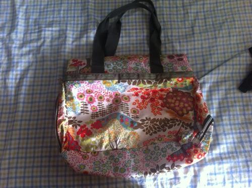 bolsa florida - com muitos compartimentos - tam g