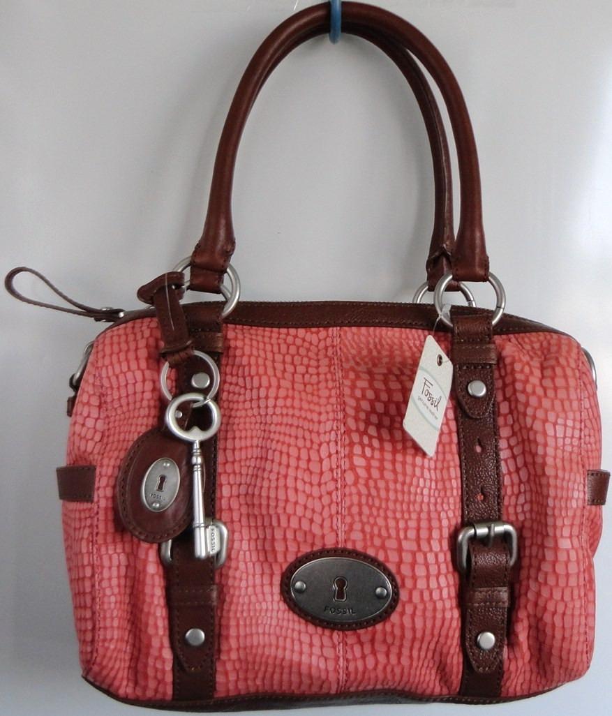 44daa0302566 bolsa fossil rosa en piel llave nueva original amor amistad. Cargando zoom.
