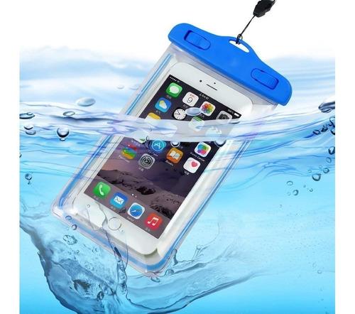 bolsa funda estanco sumergible celular camara selfie 17x9 cm