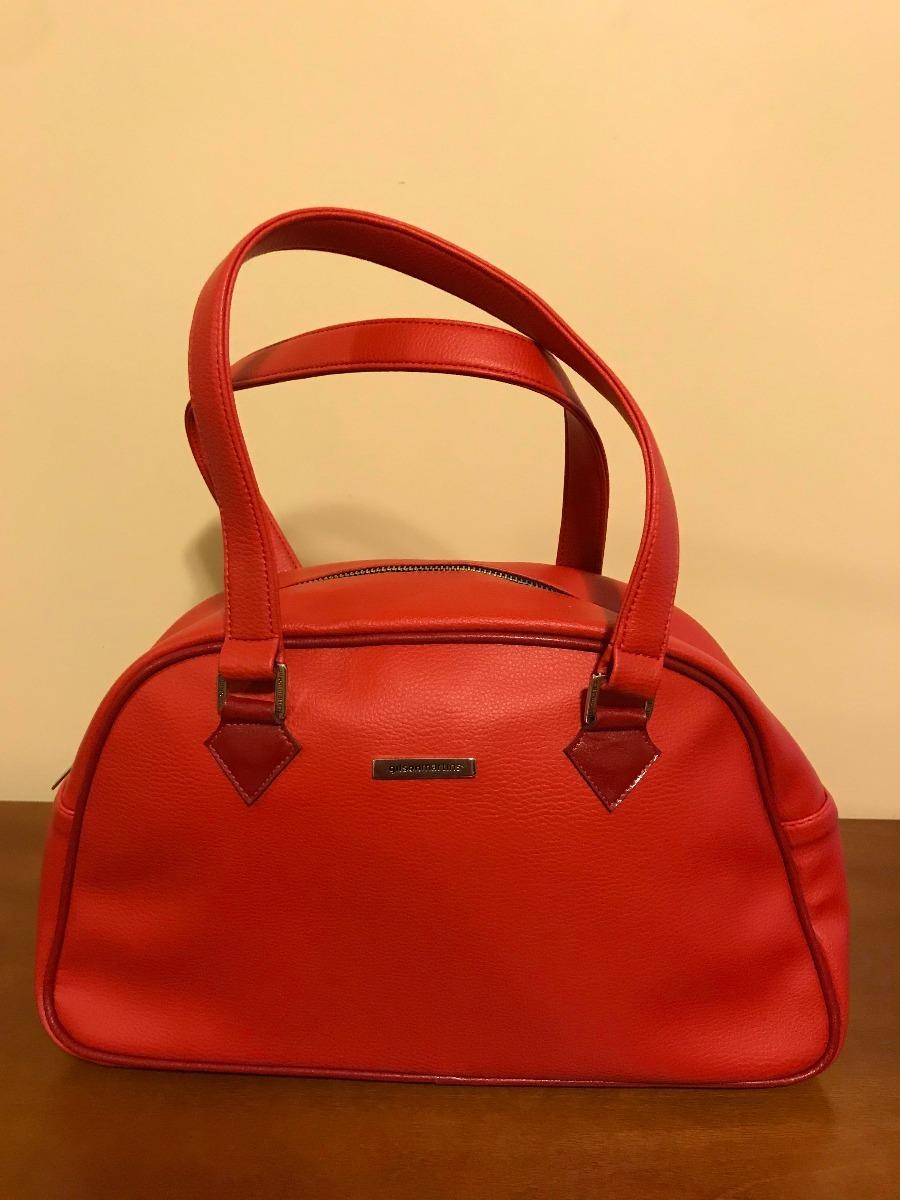 5290a996e bolsa gilson martins vermelha couro ecológico impecável. Carregando zoom.