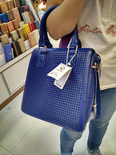 bolsa gloria w & y azul original frete grátis