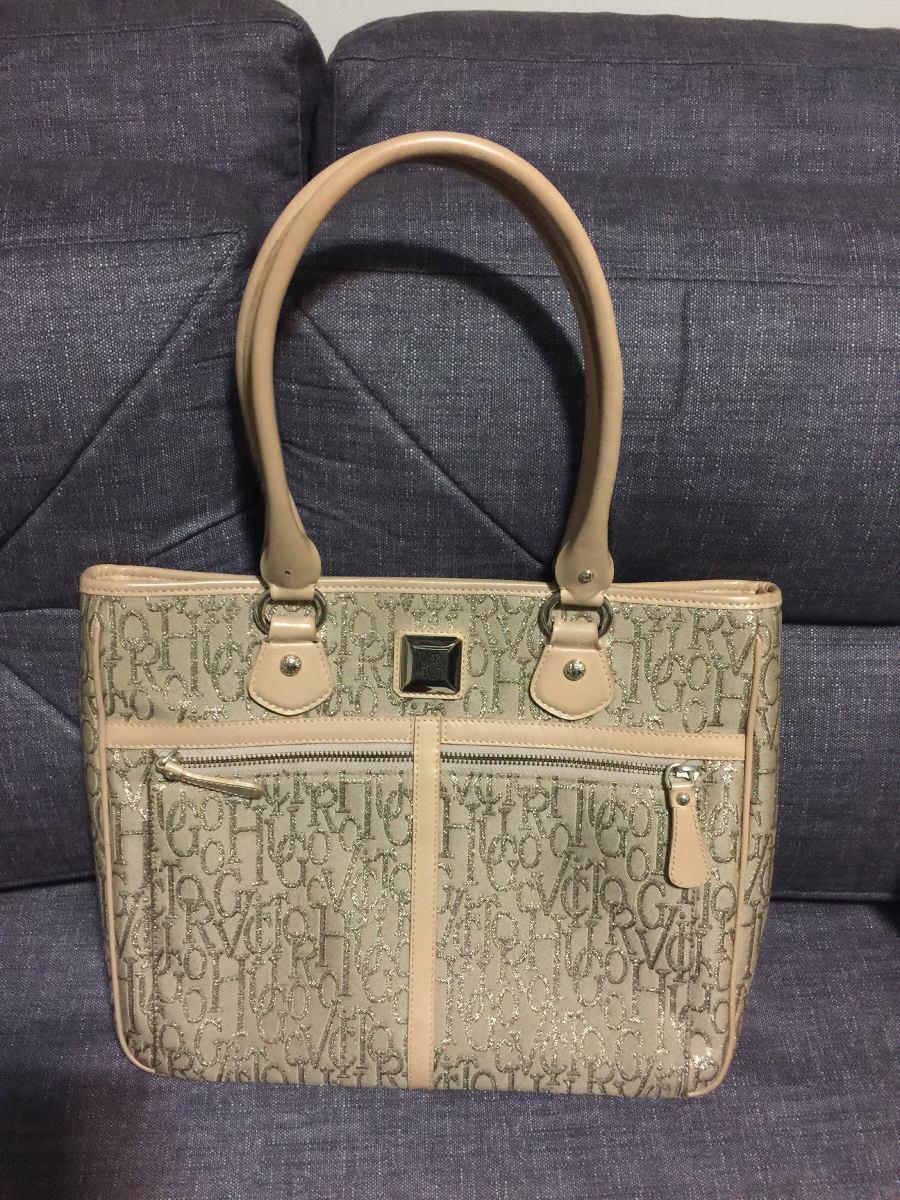 6093296d1 Bolsa Grife Victor Hugo Dourada Usada - R$ 390,00 em Mercado Livre