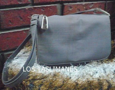 bolsa gris de seda comely