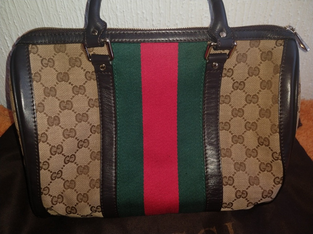 4636a5d7e Bolsa Gucci Boston - $ 13,000.00 en Mercado Libre