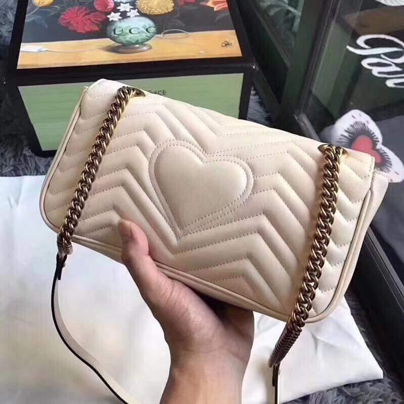 6f08fc8ef bolsa gucci marmont branca grife moda feminina. Carregando zoom... bolsa  gucci feminina. Carregando zoom.