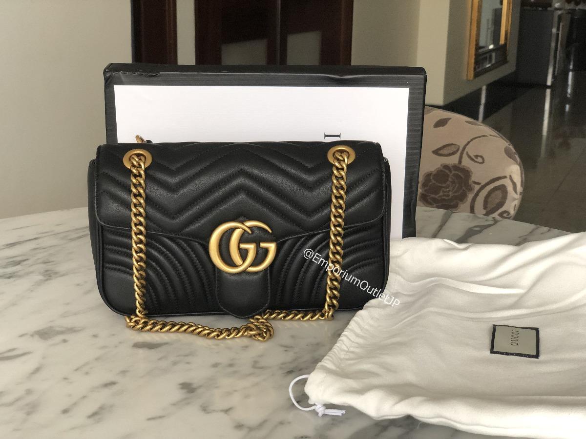 Bolsa Gucci Gg Marmont 100% Original Black Autentica - R  1.849 95edccdf42812