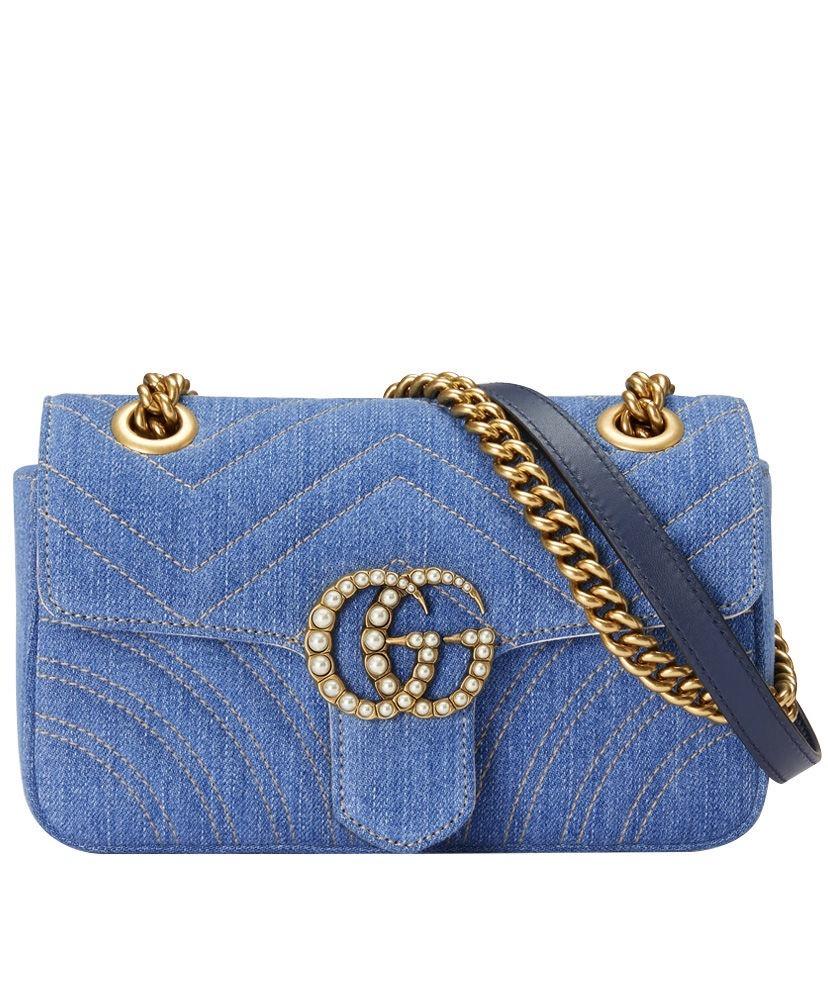 5c2cc63725c bolsa gucci gg marmont denim jeans feminina- pronta entrega. Carregando zoom .