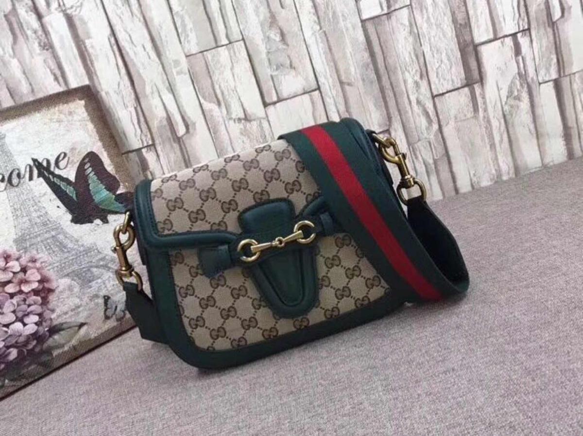 a6a6035eeefa8 Bolsa Gucci Lady Verde Monograma Novo Original - R  1.399